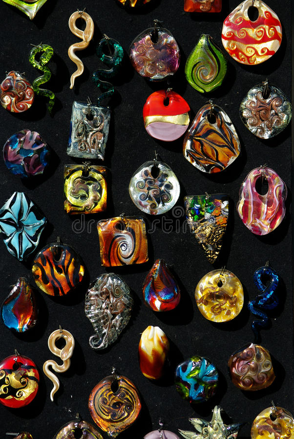 Glass pendents royalty free stock photos