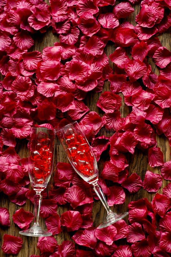 glass petals royaltyfri bild