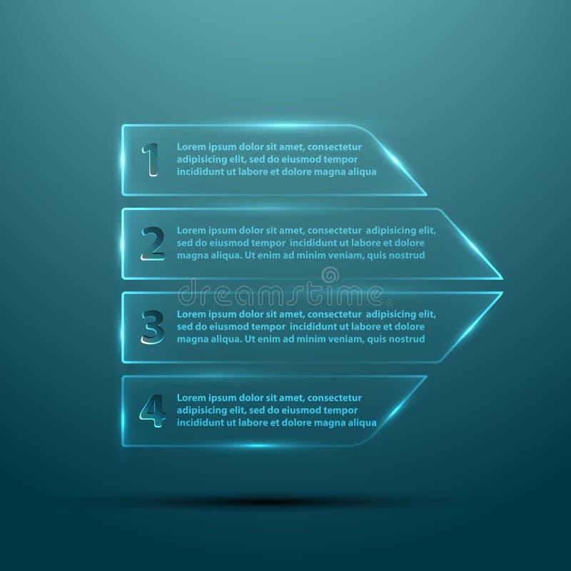 Glass pil för vektor för infographic stock illustrationer