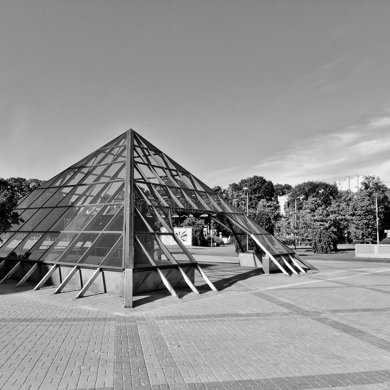 Glass piramid. stock photo