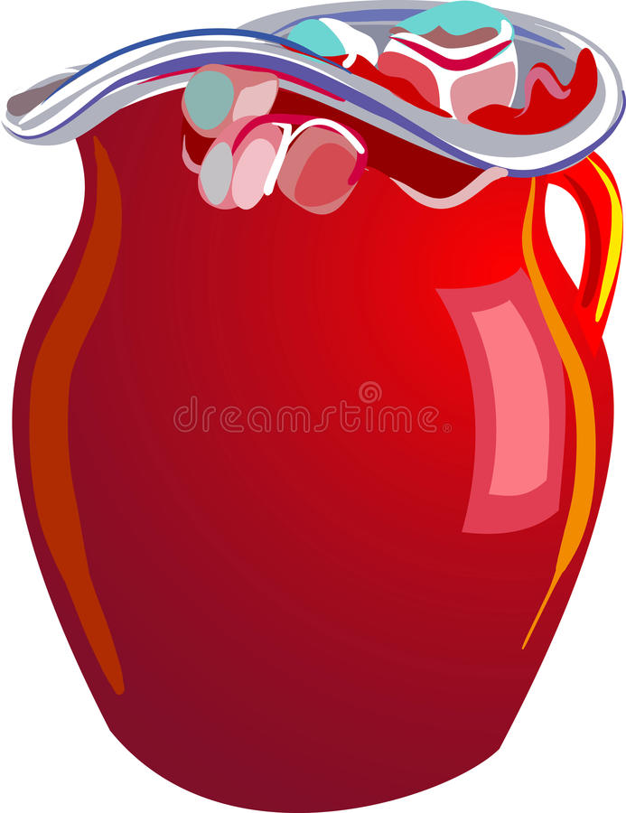 Glass Pitcher stock images