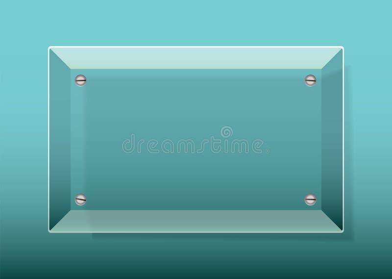 Glass Plaque vector illustration