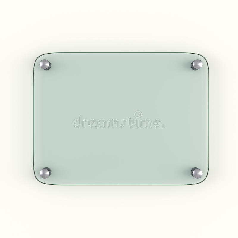 Glass plate mock up royalty free illustration