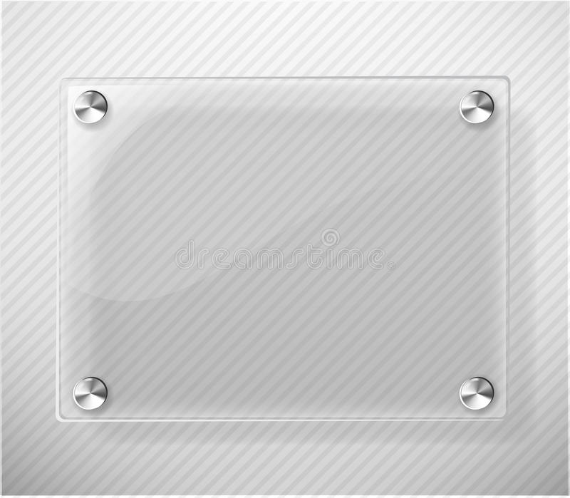 Glass Plate on White Background royalty free illustration