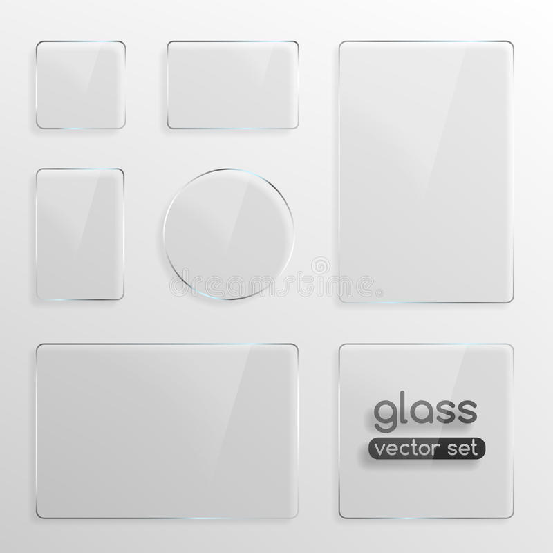 Glass plates set royalty free illustration