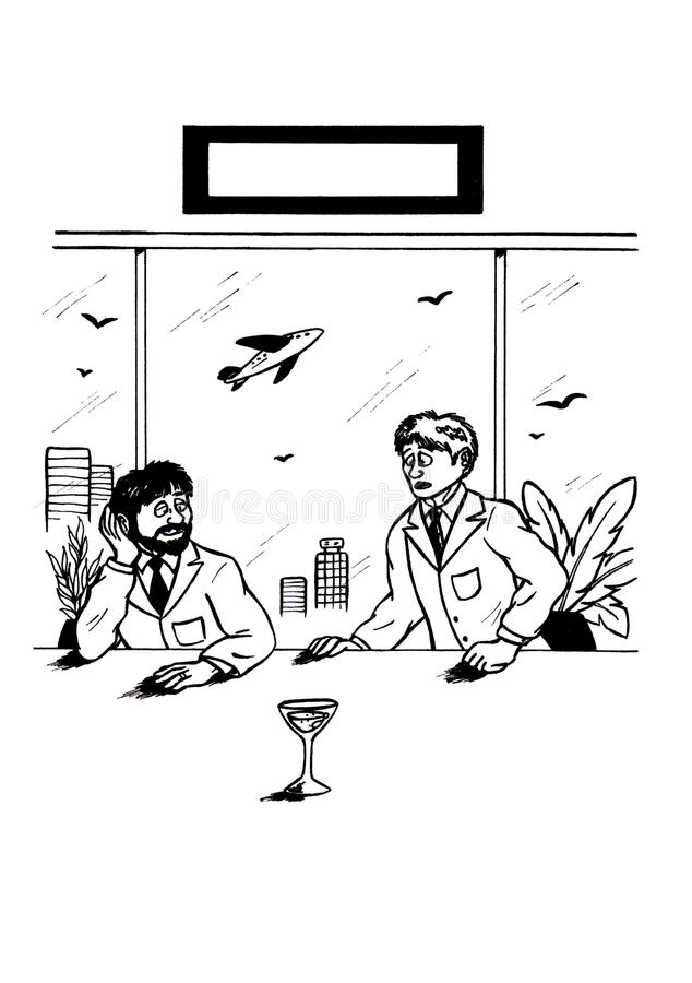 The Glass - A Point of View (2007) stock illustration