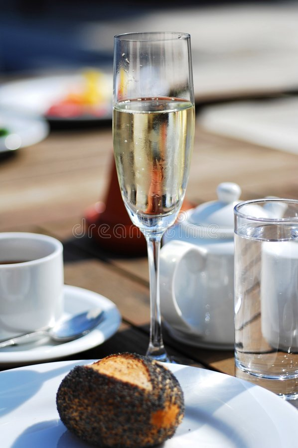 Glass of prosecco royalty free stock photo