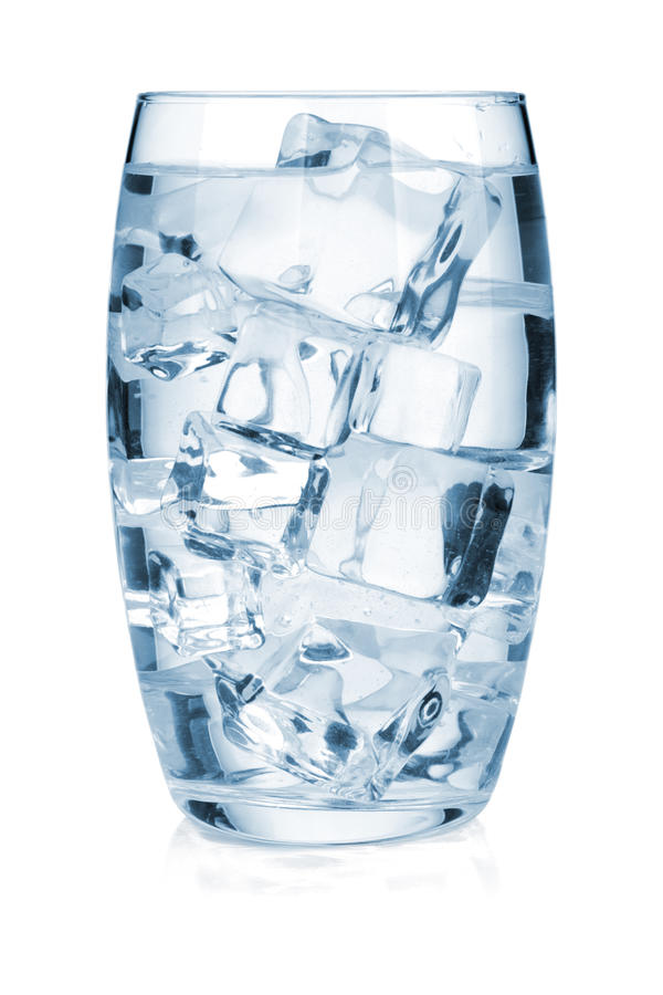 Download Glass Of Pure Water With Ice Stock Image - Image: 23097985