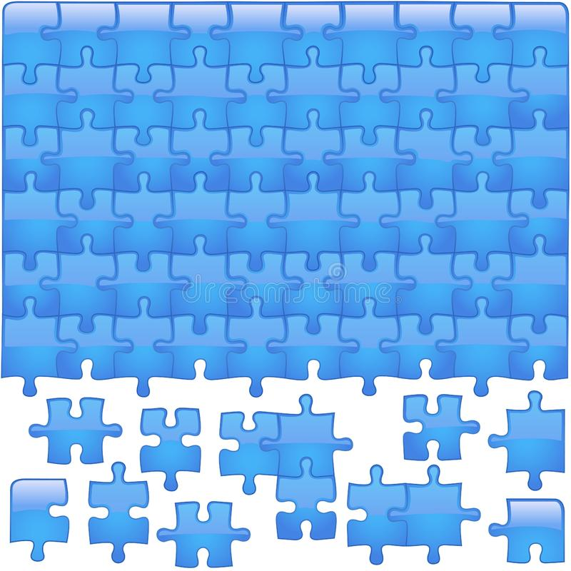 Glass Puzzle Aqua royalty free stock photo