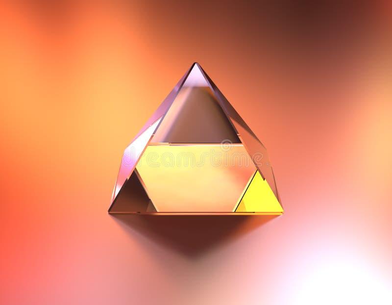 Glass pyramidfärg av ljus royaltyfri illustrationer