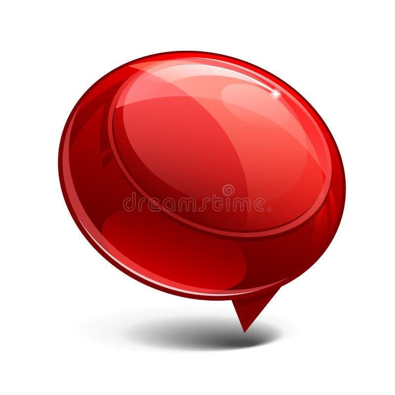 glass rött blankt för abstrakt baner royaltyfri illustrationer