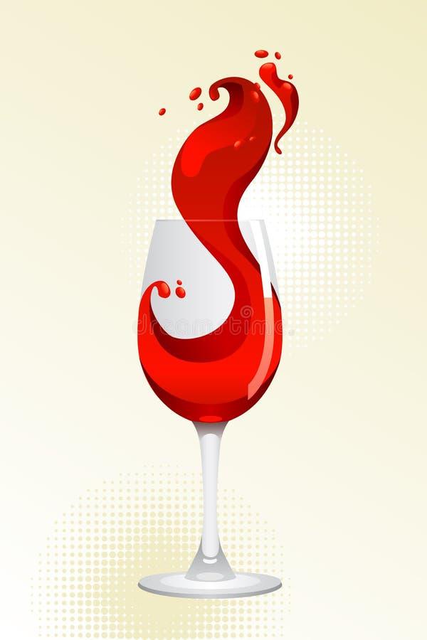 glass rött vin royaltyfri illustrationer