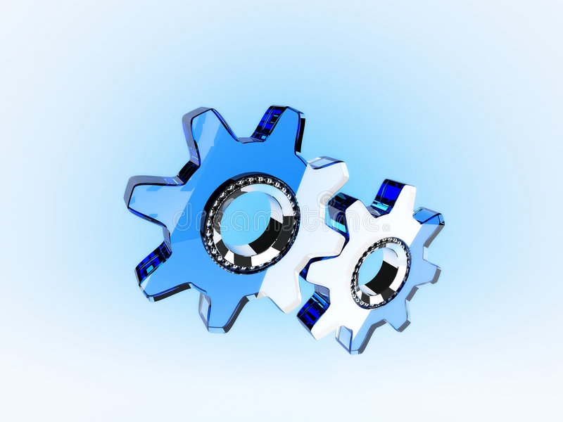 Download Glass ratchets stock illustration. Illustration of mechanical - 2384809
