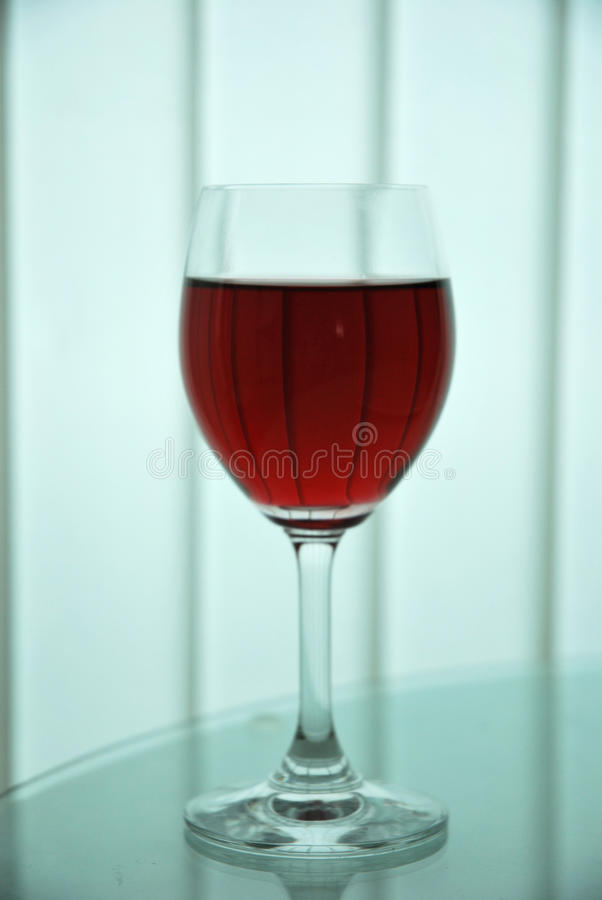 The glass with red royalty free stock photo