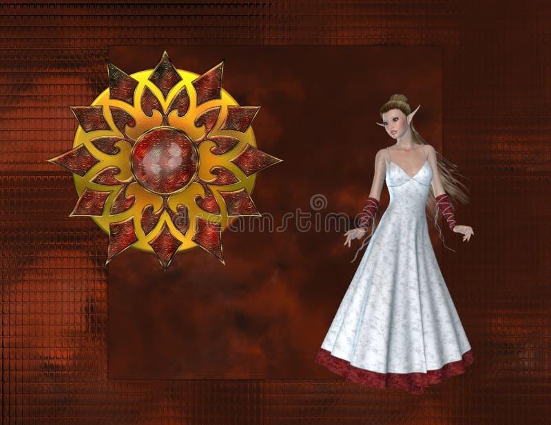 glass red för bakgrundsälva royaltyfri illustrationer