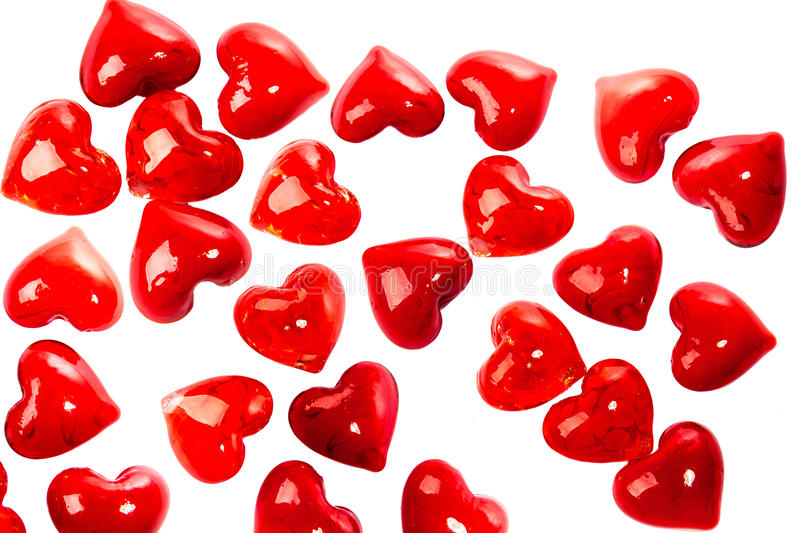 Glass red heart background royalty free stock photo