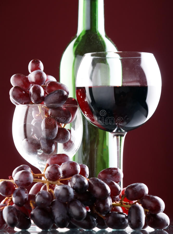 A glass of red wine royalty free stock image