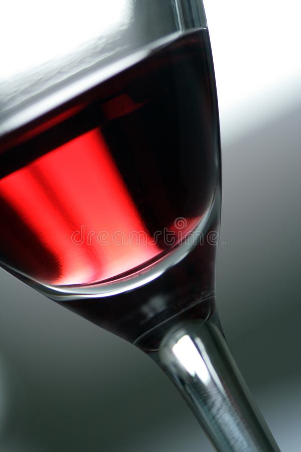 Glass with red wine. stock image