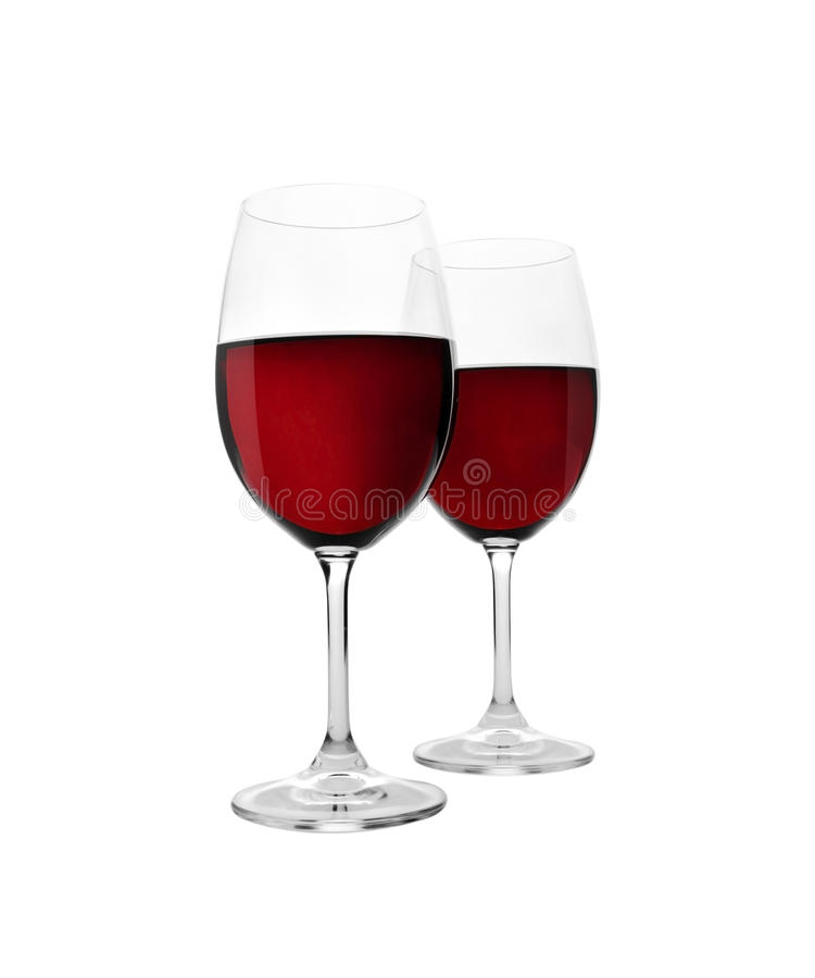 Glass of red wine. Isolated on white background royalty free stock images