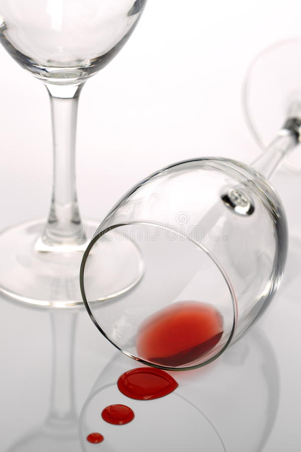 Glass Red Wine royalty free stock image