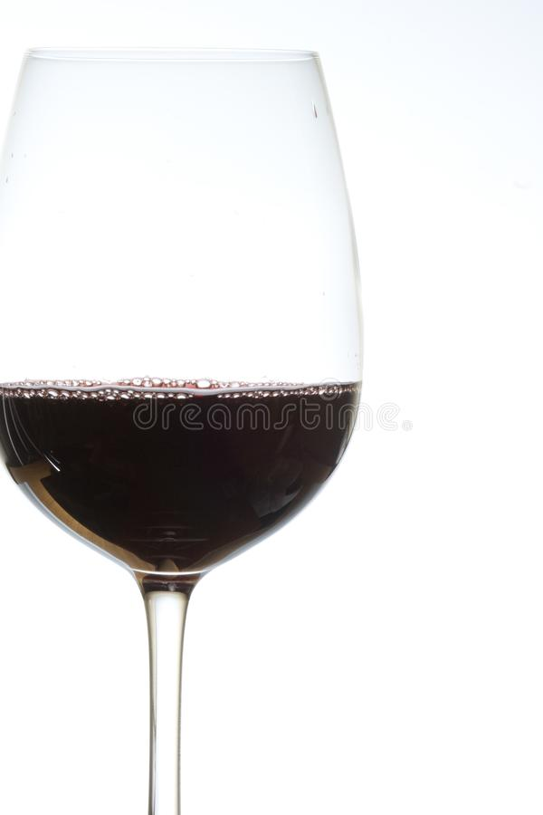Glass of red wine on royalty free stock photography