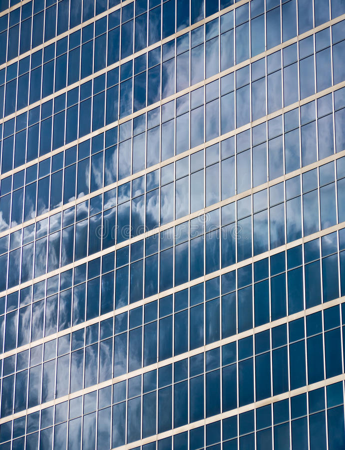 Glass reflections stock photography