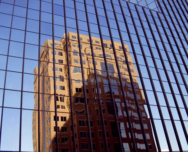 Glass Reflexioner Royaltyfri Bild