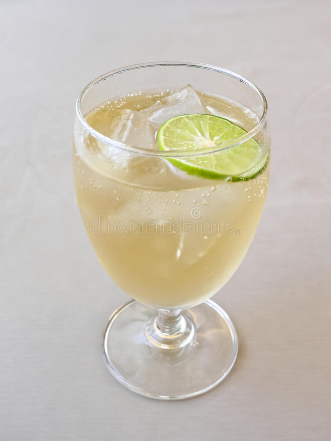 Glass of refreshing cold ginger ale. Drink menu royalty free stock photos