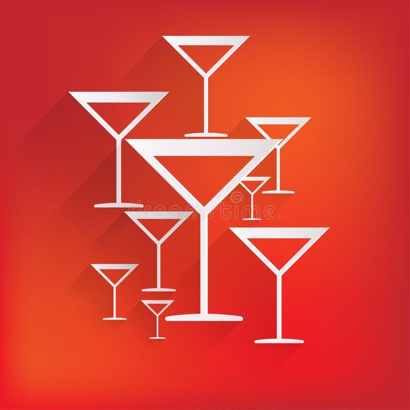 Glass rengöringsduksymbol för drink stock illustrationer