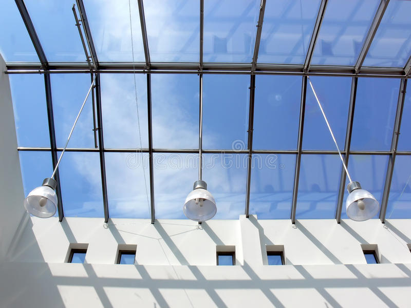 Glass roof royalty free stock images