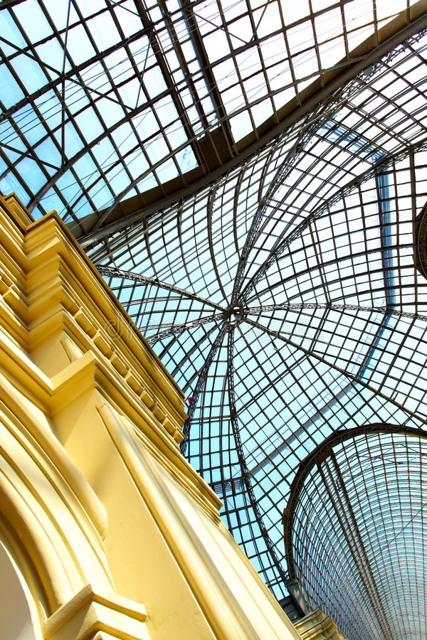 Glass roof. Of trade center, may be used as background royalty free stock photos