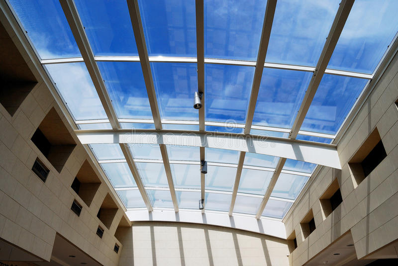 Download Glass roof stock image. Image of block, clouds, roof, greenhouse - 9474027