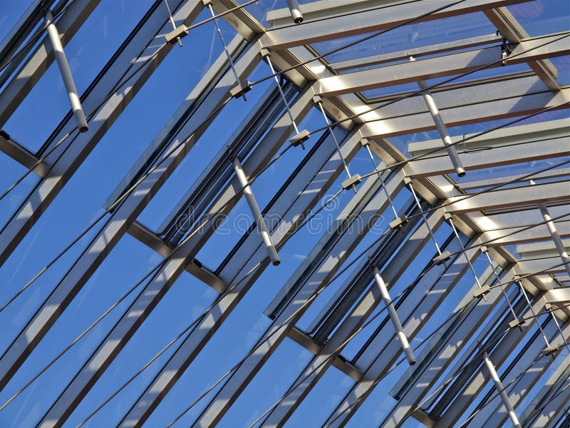 Download Glass roof construction stock image. Image of construction - 18751231