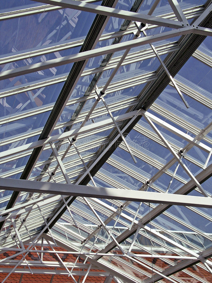 Glass Roof Denmark Knuthenborg royalty free stock images