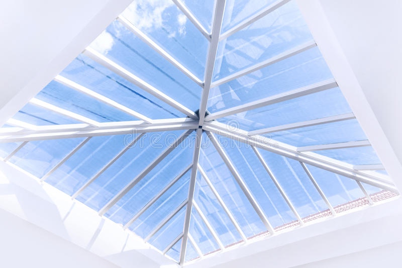 Glass roof design stock image image of highrise office for Glass roof design