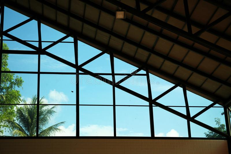 Glass roof scene. Glass roof scene represent architecture concept idea royalty free stock images