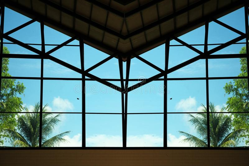 Glass roof scene. Glass roof scene represent architecture concept idea royalty free stock photography