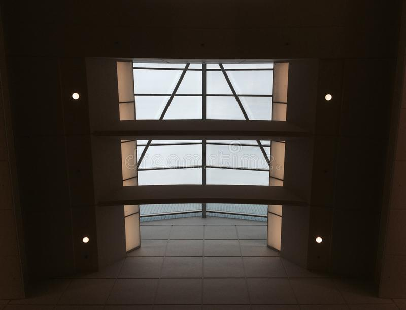 Download Glass Roof And 4 Spotlights Stock Image - Image: 80090617