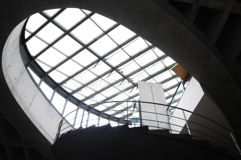 Glass Roof and Steel Structure, Modern Architecture royalty free stock photo