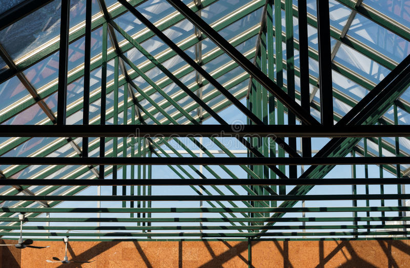 Glass roof structure royalty free stock photos