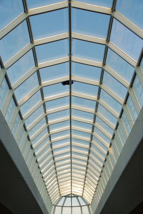 Glass Roof Structure In West Edmonton Mall Stock Image