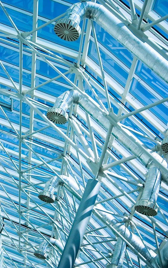 Glass roof ventilation tubing royalty free stock images