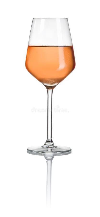 glass rose wine arkivbild
