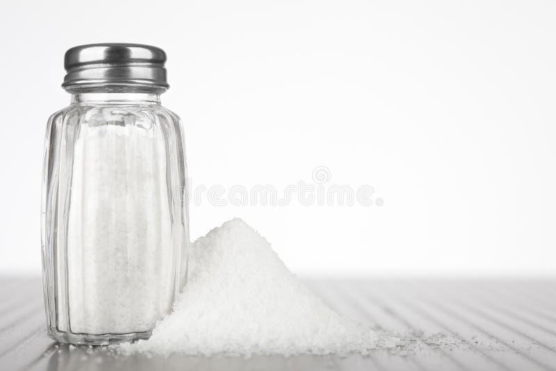 Glass salt shaker royalty free stock image