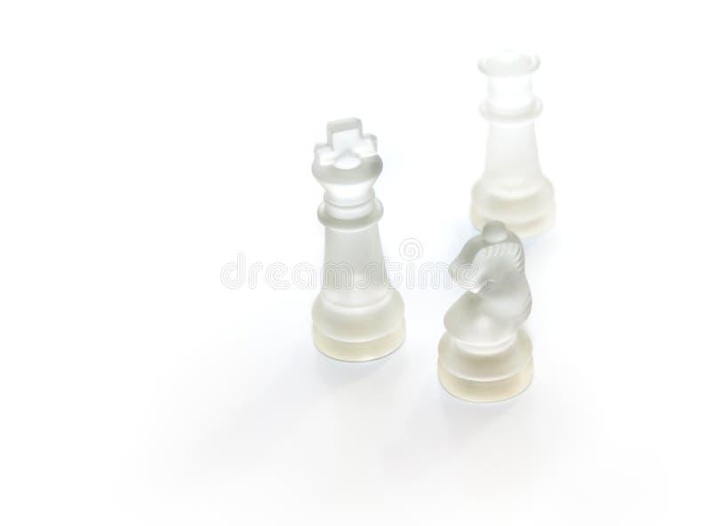 Glass schackstycken royaltyfri foto