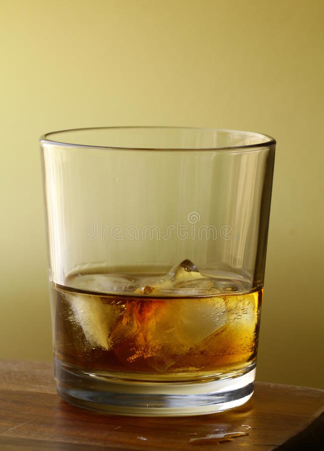 Download Glass Of Scotch Whiskey And Ice Stock Image - Image: 23126527