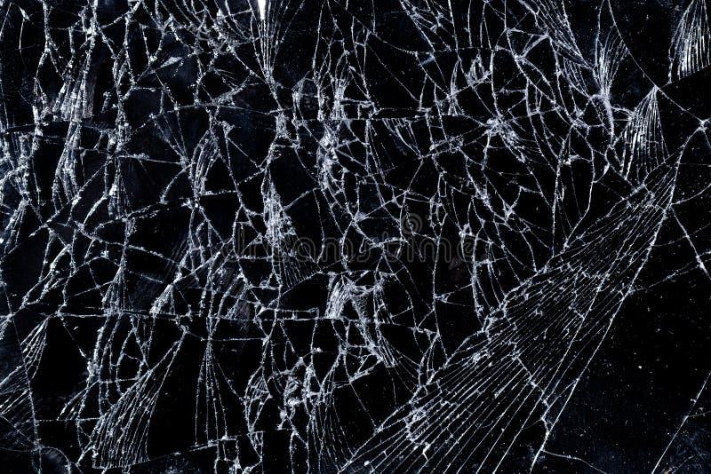 Glass screen crack broken fragile damage texture. Pattern effect stock images