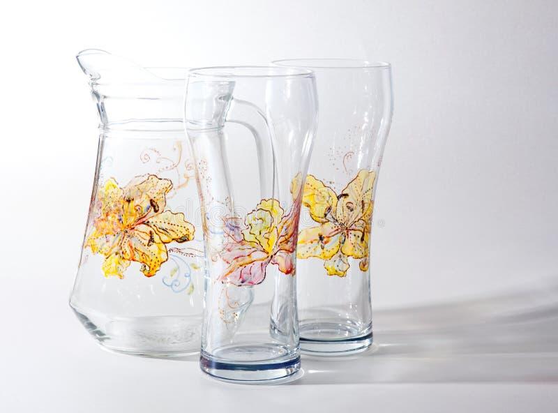 Download Glass set stock illustration. Image of ornamented, pitcher - 21982707