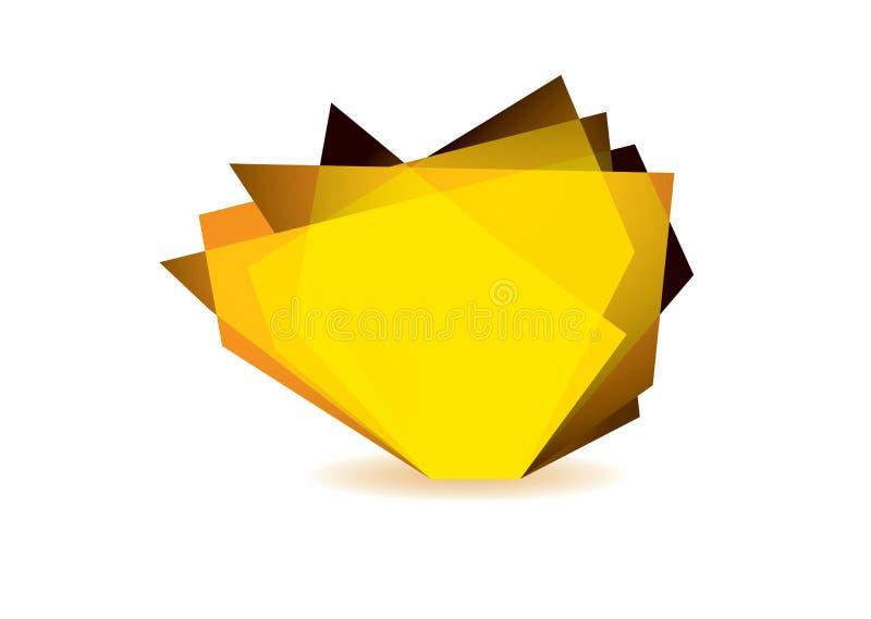 Download Glass shard orange stock illustration. Illustration of digital - 26380705