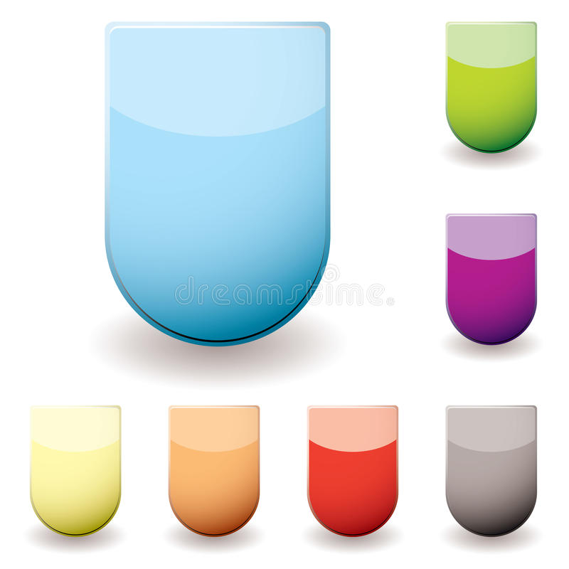 Download Glass Sheild Icon Stock Images - Image: 13646314